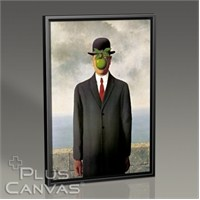 Pluscanvas - Rene Magritte - Son Of Man Tablo