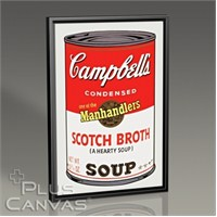 Pluscanvas - Andy Warhol - Campbells Soup I 1968 Tablo