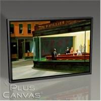 Pluscanvas - Edward Hopper - Nighthawks Tablo