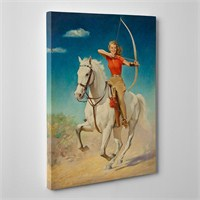 Tabloshop Arrow Horse Girl Kanvas Tablo
