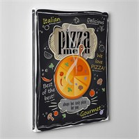 Tabloshop Pizza Menu Kanvas Tablo