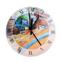 Saat Cam Duvar İpi Manzaralı