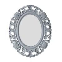 Motifli Ayna 2013-904 Beyaz