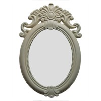 Motifli Ayna 2013-903 Krem