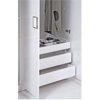 Kenyap Plus 813093 Stella Üçlü Çekmece Takımı-Parlak Beyaz
