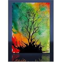 Çizim Ağaç Kanvas Tablo