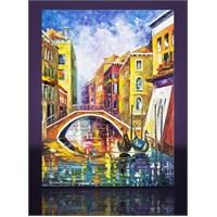 Şehir Ve Köprü Kanvas Tablo