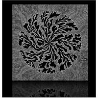 Siyah Beyaz Ağaç Dalları Kanvas Tablo