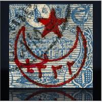 Osmanlı Ay Yıldız Kanvas Tablo
