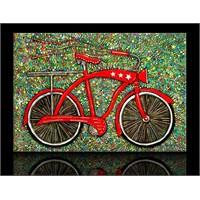 Kırmızı Bisiklet Kanvas Tablo