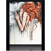 Kızıl Saçlı Kadın Kanvas Tablo
