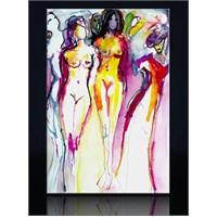 Suluboya Çizim Kadınlar Kanvas Tablo