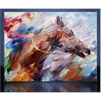 At Yarışı Kanvas Tablo