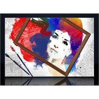 Renkler Ve Çerçeve Kanvas Tablo