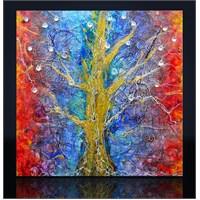 Renkli Ağaç Kanvas Tablo