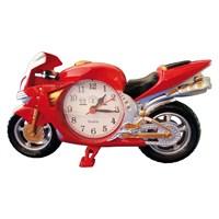 Dekoratif Motorsiklet Masa Saati Kırmızı