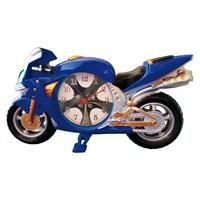 Hardymix Dekoratif Motorsiklet Masa Saati Mavi