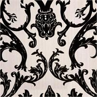 Damask Siyah Vinyl Duvar Kaplaması