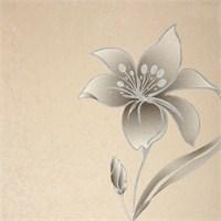Çiçek Siyah Vinyl Duvar Kaplaması