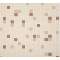 Banyo Mozaik Kahverengi Vinyl Duvar