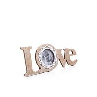 Love Yazılı Ahşap Fotoğraf Çerçevesi