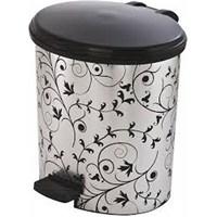 Çöp Kovası Oval Metalize Pedallı-10 Lt