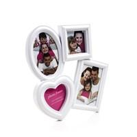 Kalp Oval 4Lü Plastik Fotoğraf Çerçevesi