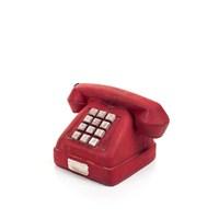 Nostaljik Kırmızı Telefon Biblo