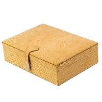 Dearybox Dört Bölmeli Deri Kaplamalı Kutu