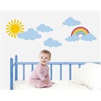 Bestasticker Güneş Bulut Gökkuşağı Sticker