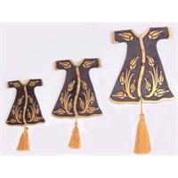 Miss Gaya Kahverengi Üçlü Kaftan Nazarlık Set