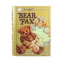 Bear Fax Kitap Görünümlü Metal Kutu