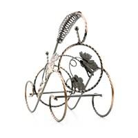 Spiral Yaprak Metal Şarap Standı