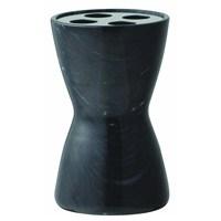 Hafele Black Marble Diş Fırçalık,Siyah,4'Lü