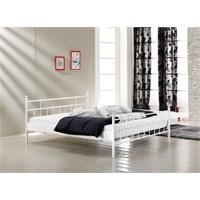 Unimet Lalas 160 x 200 Metal Karyola Beyaz