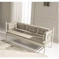 Unimet Lalas Metal Sofa 70 x 200 Beyaz (Minderli)