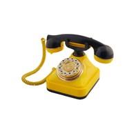 Anna Bell Sarı Lacivert Klasik Tuşlu Telefon 3