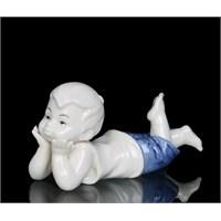 Erkek Çocuk Figürlü Porselen Biblo