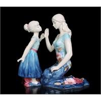 Anne Ve Kız Figürlü Porselen Biblo