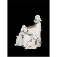 Minik Köpekler Ve Annesi Figürlü Biblo