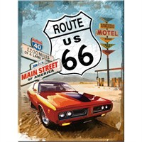 Route 66 Red Car Magnet
