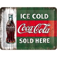 Cocacola - Ice Gold Metal Kabartmalı Pin Up Duvar Panosu