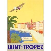 Metal Poster - Saınt Tropez - Chomel 15X20cm