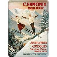 Metal Poster - Chamonıx Sauteurs - Tamagno 15X20cm