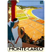 Metal Poster - Monte Carlo - Broders 15X20cm.