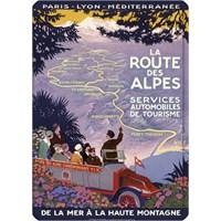 Metal Poster - La Route Des Alpes Broders 15X20cm.