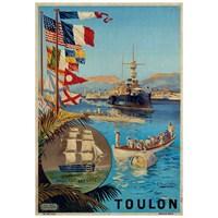 Metal Poster - Toulon Fregate 15X20cm.