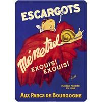 Metal Poster - Escagots Menetrel 15X20cm.