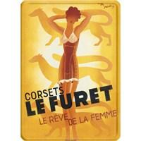 Metal Poster - Corset Le Furet 15X20cm.
