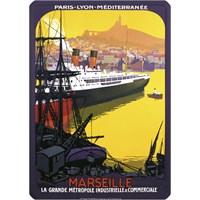 Metal Poster - Marseılle Métropole Industrielle 15X20cm.